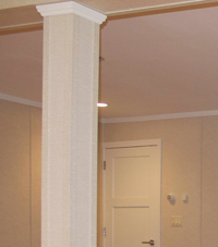 Easy Wrap column sleeves in Two Harbors basement