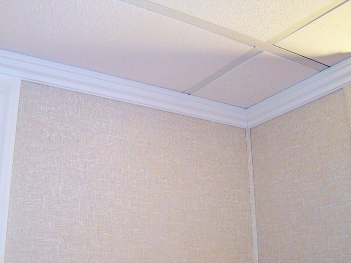 Crown molding for a basement wall/ceiling joint