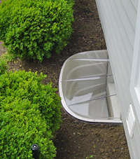 basement egress window well in Virginia