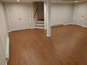 Basement Flooring After in St. Paul