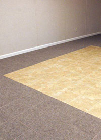 Basement Wood Flooring installed in Virginia, Minnesota and Wisconsin