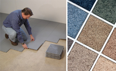 Basement subfloor matting and basement carpeting in Minnesota and Wisconsin