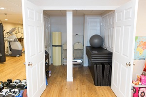 TBF finished basement with home gym in Minneapolis