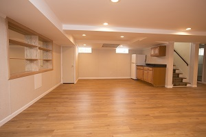 Basement finishing flooring in St. Paul & nearby