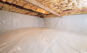 Crawl Space Moisture Barrier After in Superior