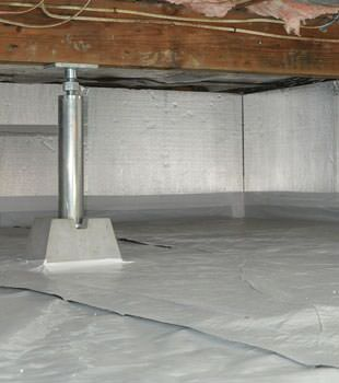 Installed crawl space insulation in Hayward