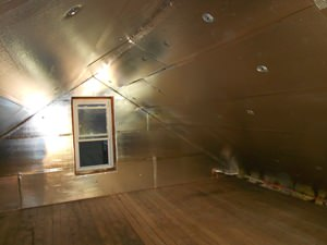 A Duluth attic with SuperAttic installed.