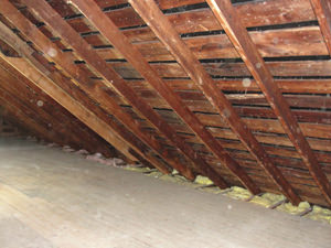 A Minnesota and Wisconsin attic before installation of SuperAttic