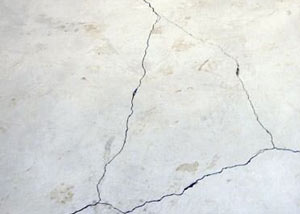 cracks in a slab floor consistent with slab heave in Bemidji.