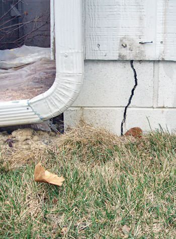 foundation wall cracks due to street creep in Lake Nebagamon