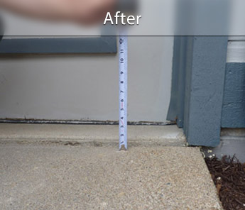Duluth concrete walkway repair & leveling