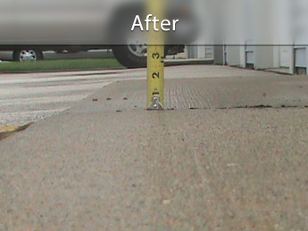 Repairing driveway with concrete leveling in MN and WI