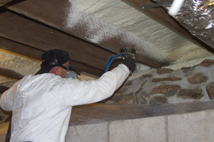 Spray Foam in the crawl space in Minneapolis