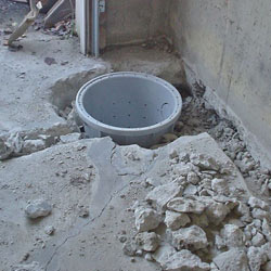 Placing a sump pit in a Eau Claire home