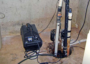 Pedestal sump pump system installed in a home in Hayward