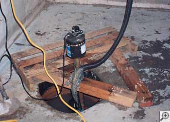 A Hayward sump pump system that failed and lead to a basement flood.