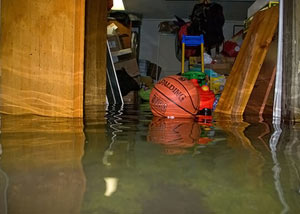 Flooded basement in Duluth