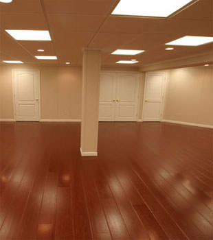 Rosewood faux wood basement flooring for finished basements in Duluth